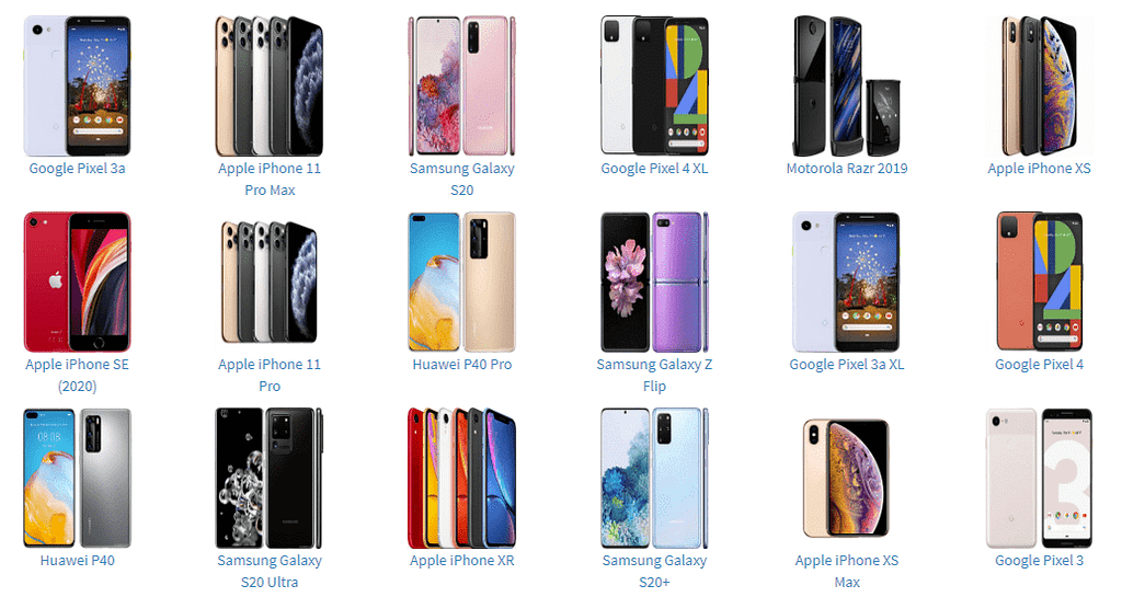 eSIM smartphones supported by DENT Wireless