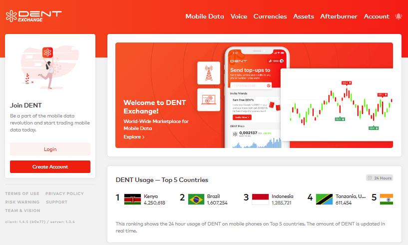 DENT Exchange Screenshot