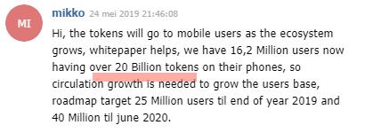 Mikko chat 20 Billion DENT tokens inside DENT Apps