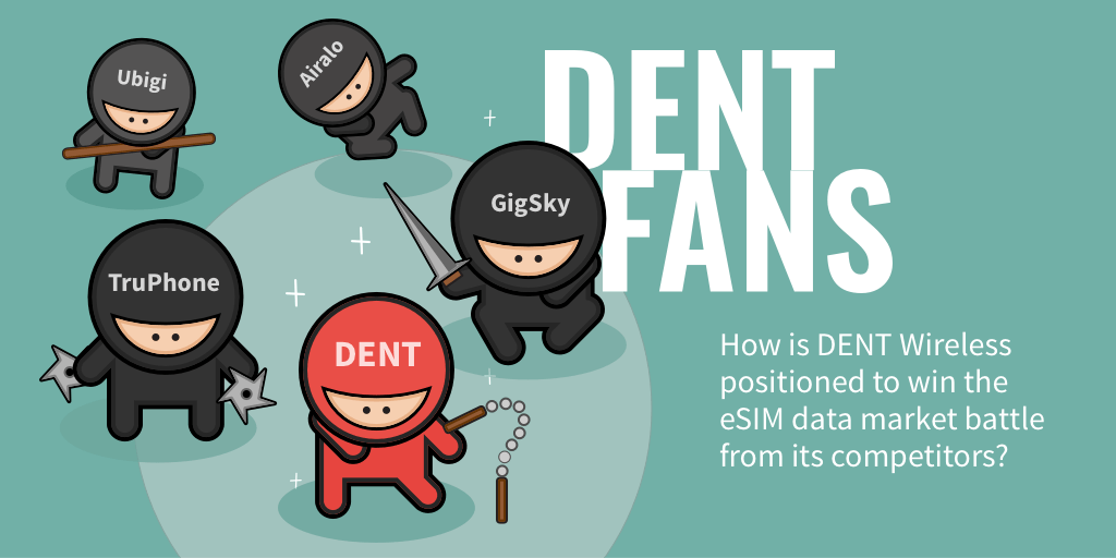 How is DENT Wireless positioned to win the eSIM data market battle from its competitors